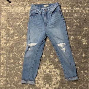 MADEWELL denim high rise mom jeans